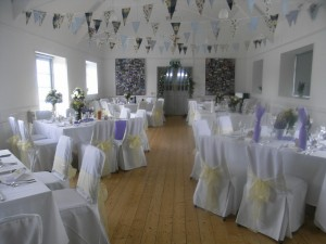 A wedding held at St Gwenfaen's Church Hall