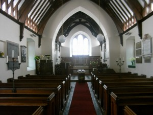Inside St Gwenfaen's Church